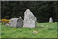 NJ9547 : Aikey Brae Recumbent Stone Circle (6) by Anne Burgess