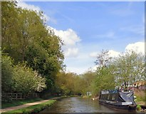 SJ9396 : Unidentified narrowboat at Warble Wharf by Gerald England
