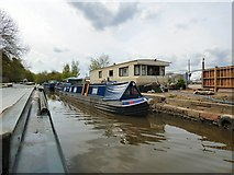 SJ9494 : Phoenix moored on the Peak Forest Canal by Gerald England