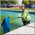 TQ2780 : Ornamental Pond, Marble Arch by David P Howard