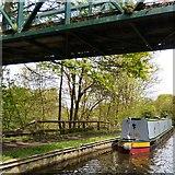 SJ9493 : Moored under Bridge #8a by Gerald England