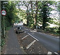 "SJ8581 : Wilmslow Park South roadway width narrows to 6' 6"", Wilmslow  by Jaggery"