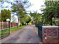 SJ9394 : Entrance to former school by Gerald England