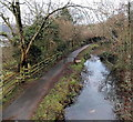 ST2589 : Double metal barriers across the canal path near Pontymister by Jaggery