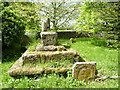 ST8718 : Remains of cross in St Mary's churchyard, Compton Abbas by Becky Williamson