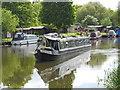 TL1697 : Narrow boat approaching Orton Lock on the River Nene by Paul Bryan