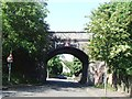 SK5836 : Former railway bridge over Devonshire Road by Tim Glover