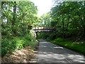 TL1341 : Bridge over disused railway by Bikeboy