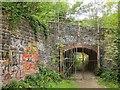 ST5674 : Railway arch by River Avon Trail by Derek Harper