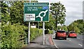 J3269 : Malone Roundabout sign, Belfast (June 2015) by Albert Bridge