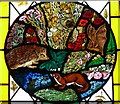SU7433 : St.Mary's - Roundel 3 - Hedgehog, Stoat etc. by Rob Farrow