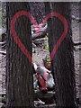 SZ0287 : Brownsea Island: heart artwork : Week 23