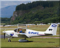 NM9035 : G-PUPY at Oban Airport (1) by The Carlisle Kid