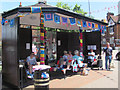 SP9211 : Waiting for a bus in the yarn bombed shelter in Tring by Chris Reynolds