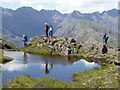 NG4919 : A wee lochan on the slopes of Sgurr na Stri by Oliver Dixon
