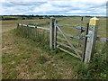 TF0900 : Gate on a footpath near Sacrewell Farm, Wansford by Richard Humphrey