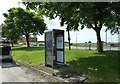 SD6308 : Telephone Box On the A6 by Cooper Turning by Peter Bond