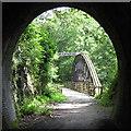 NY3024 : Bridge and tunnel on the Threlkeld to Keswick railway path : Week 30