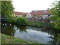 TL1461 : Moat at Bassmead Manor Barns by Richard Humphrey
