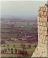 SJ5359 : View westwards from Beeston Castle by Anthony O'Neil