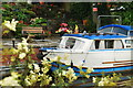 SJ9050 : Canal Boat in Stockton Brook by Stu JP