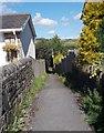 SE0337 : Footpath - Mytholmes Lane by Betty Longbottom