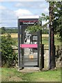 Dist:0.1km<br/>The public telephone box in the small Borders village of Hutton.