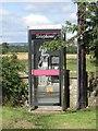 Dist:0.1km<br/>The public telephone box in the small Borders village of Hutton.