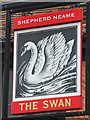 TQ1769 : The Swan sign by Oast House Archive