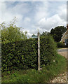 TM3162 : Bridleway sign off the entrance to Home Farm by Adrian Cable