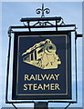TL1538 : Sign for the Railway Steamer, Shefford by JThomas