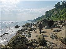 NH7561 : Walking the shoreline between Eathie and Rosemarkie by Julian Paren