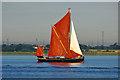 TQ7078 : 'Centaur' approaching start of 2015 Thames Barge Match : Week 34