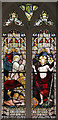 TL6052 : St Andrew, West Wratting - Stained glass window by John Salmon