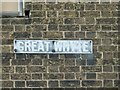 TL2885 : Great Whyte street name sign by Alan Murray-Rust