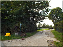 TQ0199 : Martintop Farm access driveway, near Chenies by Malc McDonald