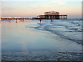 TQ2903 : Evening low tide west of West Pier, Brighton by Robin Webster