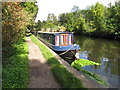 TQ0587 : The Lobster Quadrille, narrowboat near Denham by David Hawgood