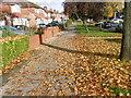 TQ1989 : Autumn leaves along Beverley Drive by Marathon