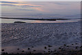 SD4465 : Morecambe sunset at low tide : Week 43