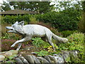 SW7727 : Fox statue at the entrance to Glendurgan Garden by Rod Allday