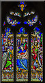 SK9450 : Stained glass window, St Nicholas' church, Fulbeck : Week 45