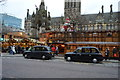 SJ8398 : Christmas Market, Albert Square & Town Hall by N Chadwick