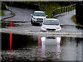 H4572 : Flooded road, Omagh by Kenneth  Allen
