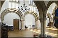 SK8464 : Interior, St Helena's church, South Scarle by Julian P Guffogg