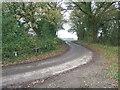 TM4470 : Bend On Minor Road by Keith Evans