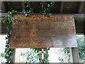 TG2306 : Lakenham St. John WW2 War Memorial in the Lychgate by Adrian S Pye