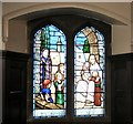 SJ9495 : Children's Chapel: Stained Glass Window by Gerald England