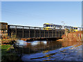 SD7909 : River Irwell, Monkey Bridge at Warth by David Dixon