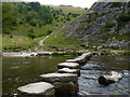 SK1551 : Stepping stones across the River Dove by Mat Fascione